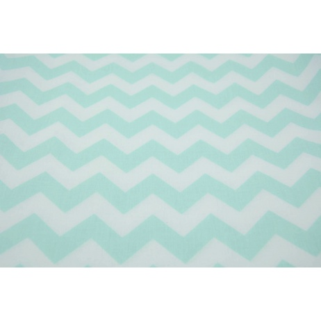 Cotton 100% mint sorbet chevron zigzag