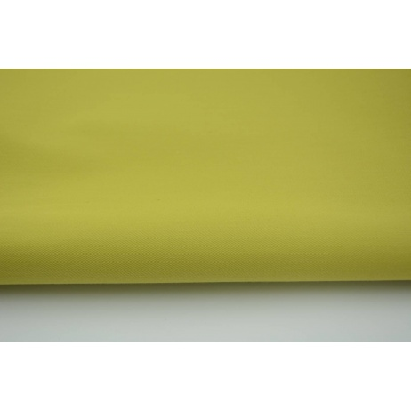 Drill, 100% cotton fabric in plain lime colour