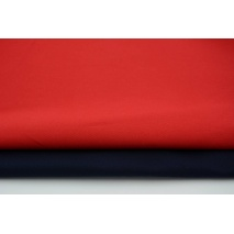 Drill, 100% cotton fabric in a plain dark red colour