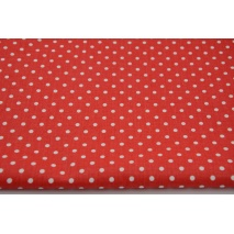Cotton 100% 4mm dots on a red background