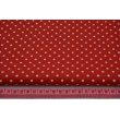 Cotton 100% dots 4mm on a red background