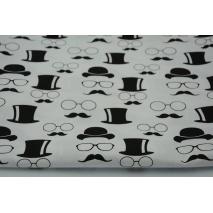 Cotton 100% glasses, mustache, bowlers, hats