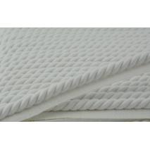 Sznurek bawełniany biały z taśmą o średnicy 10mm
