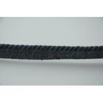 Sznurek bawełniany ciemnoszary z taśmą o średnicy 6mm