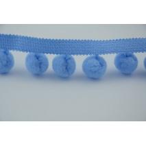Tasiemka z pomponami błękitna, duża