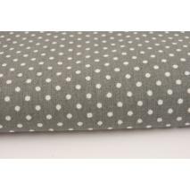 Cotton 100% polka dots 2mm on a dark gray background
