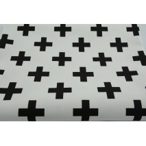 HOME DECOR black crosses, pluses on a white background