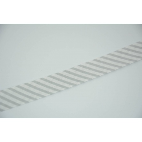 Cotton bias binding in gray stripes pattern