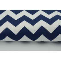 HOME DECOR navy chevron zigzag cotton 100%
