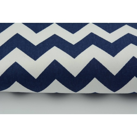 HOME DECOR navy chevron zigzag cotton 100%
