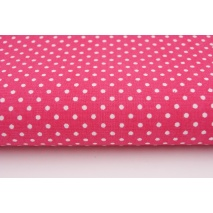 Cotton 100% polka dots 2mm on a fuchsia background