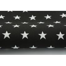 Bawełna 100%, gwiazdki 2cm na czarnym tle