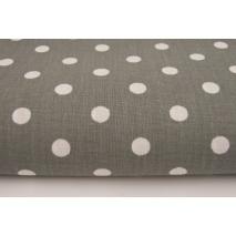 Cotton 100% dark gray polka dots 7mm