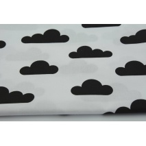 Cotton 100% black clouds on a white background