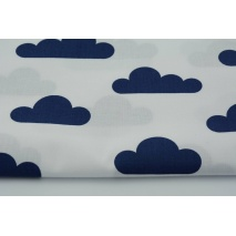 Cotton 100% navy clouds on a white background