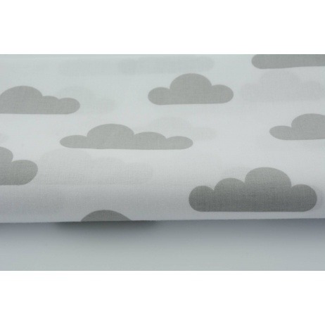 Cotton 100% gray clouds on white background