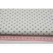 Cotton 100% gray dots 4mm on a white background