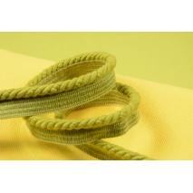 Sznurek bawełniany limonkowy z taśmą o średnicy 6mm