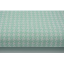 Cotton 100% mint cheerful check