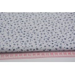 Cotton 100% navy meadow on a white background, small flowers