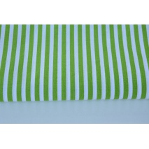 Cotton 100% green stripes 5mm