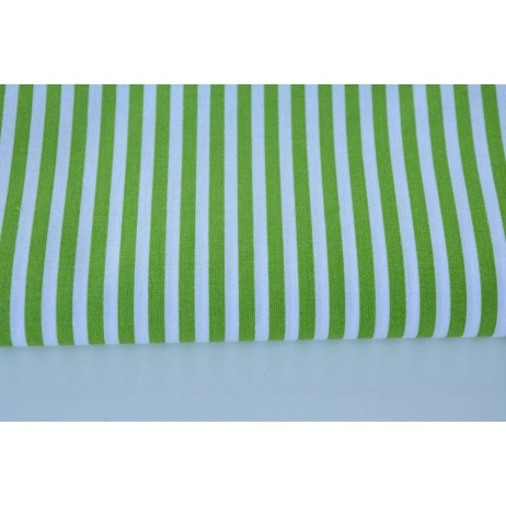 Cotton 100% green stripes 5mm