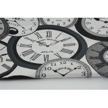 Bawełna 100% zegary na białym tle