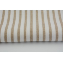 Cotton 100% beige stripes 5mm/10mm