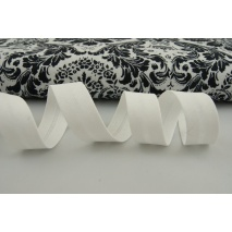 Cotton bias binding white