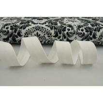 Cotton bias binding white