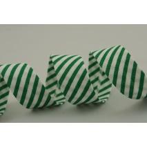 Lamówka bawełniana w ciemnozielone paseczki