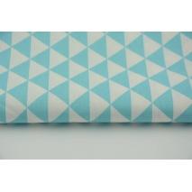 Bawełna 100% drobne turkusowe trójkąty