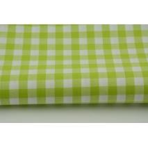 Bawełna 100% kratka vichy, dwustronna limonkowa 1cm