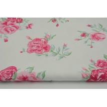 HD różowe kwiaty na białym tle - HOME DECOR