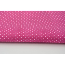 Cotton 100% dots 1,5mm on a fuchsia, amaranth background