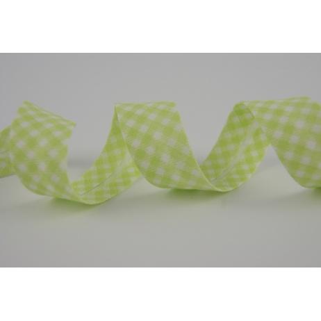 Lamówka bawełniana zielona krateczka vichy 18mm