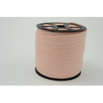 Cotton bias binding salmon stripes 2mm