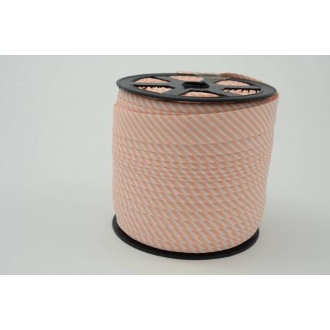 Cotton bias binding salmon stripes