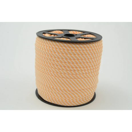 Cotton bias binding orange stripes