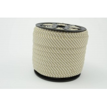 Cotton bias binding 2mm beige stripes