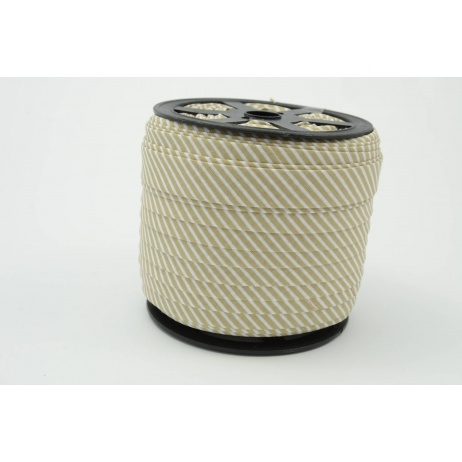 Cotton bias binding 2mm beige stripes