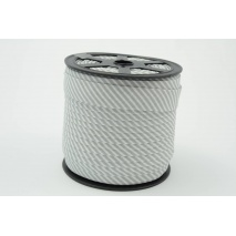 Cotton bias binding 2mm gray stripes