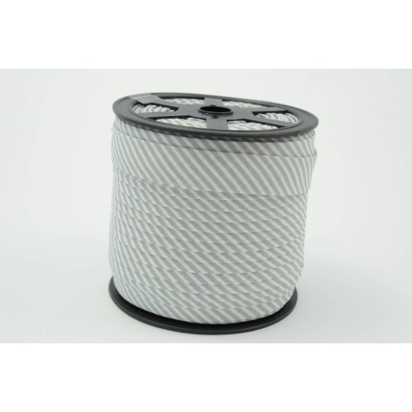 Lamówka bawełniana w 2mm szare paseczki