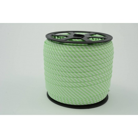 Cotton bias binding2mm aquamarine stripes