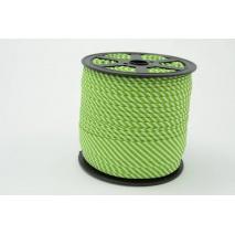Cotton bias binding2mm green stripes
