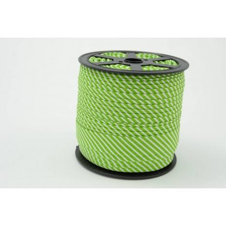 Lamówka bawełniana w 2mm zielone paseczki