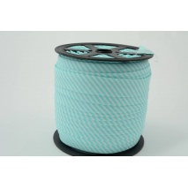 Cotton bias binding 2mm turquoise stripes