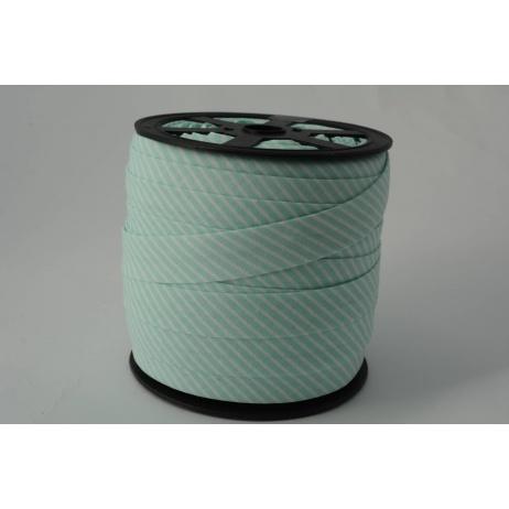 Cotton bias binding2mm mint stripes