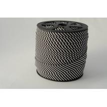 Cotton bias binding2mm black stripes