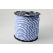 Cotton bias binding 2mm dark blue stripes